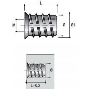 Ászokanyacsavar peremmel BU04 - M6x20mm