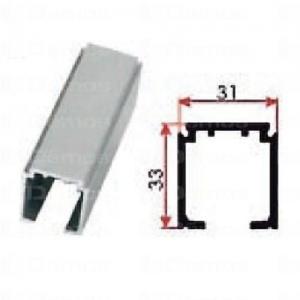 Beltéri ajtóvasalat felsővezetésű sín 3m Art.1280 DT304 Terno bútoripari kellék magas minőségben (1db)
