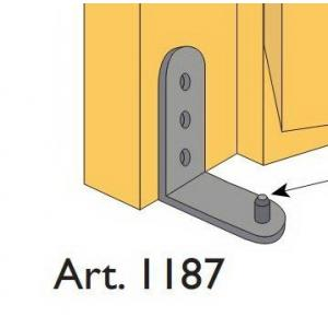 Beltéri ajtóvasalat harmonika ajtóhoz alsó horgony pánt Art.1187 DT313 Terno bútoripari kellék magas minőségben (1db)