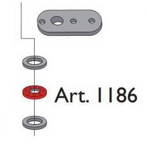 Beltéri ajtóvasalat harmonika ajtóhoz alsó horgony pánthoz ellendarab Art.1186 DT314 Terno bútoripari kellék magas minőségben (1db)