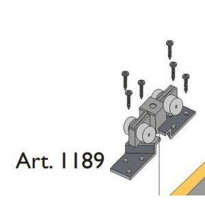 Beltéri ajtóvasalat harmonika ajtóhoz felső görgő 40kg/szárny Art.1189 DT317 Terno bútoripari kellék magas minőségben (1db)