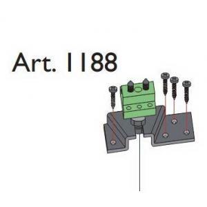 Beltéri ajtóvasalat harmonika ajtóhoz felső horgony pánt Art.1188 DT315 Terno bútoripari kellék magas minőségben (1db)