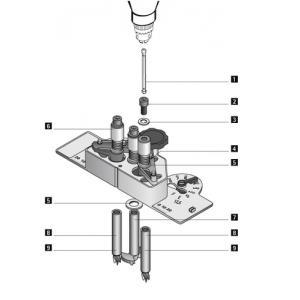 HT-20131 DRILLJIG VB fúró test tipl.