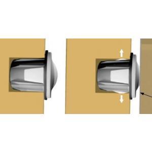 IF-SOFT ajtó csill.befúrh.10mm transp.