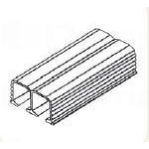 Sisco tolóajtó vasalat felső sín dupla 2m 87640 Sisco kiemelt gyártási minőségű szerelvény (1db)
