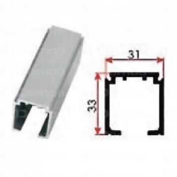 Beltéri ajtóvasalat felsővezetésű sín 2m Art.1280 DT303 Terno bútoripari kellék magas minőségben (1db)