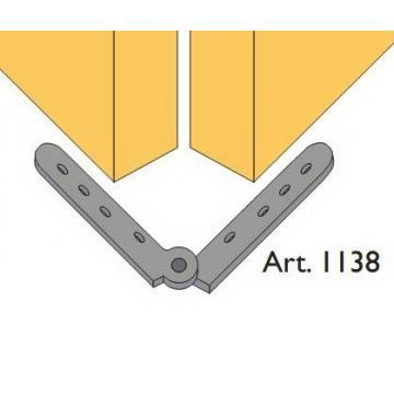 Beltéri ajtóvasalat harmonika ajtóhoz rugós összecsukható pánt 40kg/szárny Art.1138 DT316 Terno bútoripari kellék magas minőségben (1db)