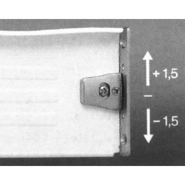 FGV fióksín oldallappal H150/400mmfehér