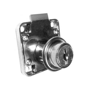 FIÓKZÁR SR01 37x37mm nikkelezett fém