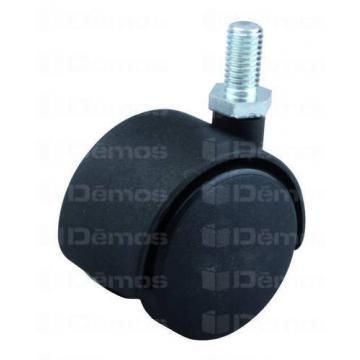 Fotelgörgő 40mm fekete + csap 8x15mm 30kg teherbírás 36151 Demos bútor alkatrész magas minőségben (1db)