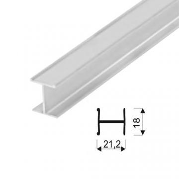 """Sevroll """"H"""" profil 18mm 3m ezüst 89010 Sevroll kiemelt gyártási minőségű szerelvény (1db)"""