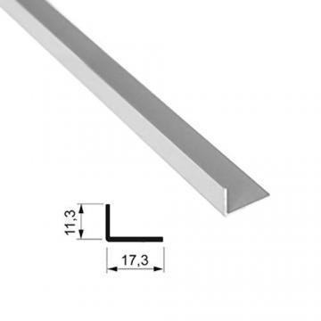 """Sevroll """"L"""" profil 17x11mm 1,7m ezüst 89134 Sevroll kiemelt gyártási minőségű szerelvény (1db)"""
