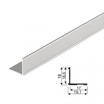 """Sevroll """"L"""" profil 18x19,1mm peremes 2,35m ezüst 89053 Sevroll kiemelt gyártási minőségű szerelvény (1db)"""