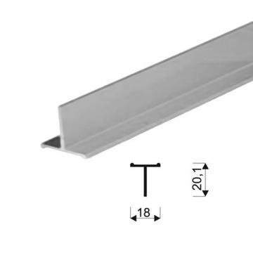 """Sevroll """"T"""" profil 18mm peremes 3m ezüst 89013 Sevroll kiemelt gyártási minőségű szerelvény (1db)"""