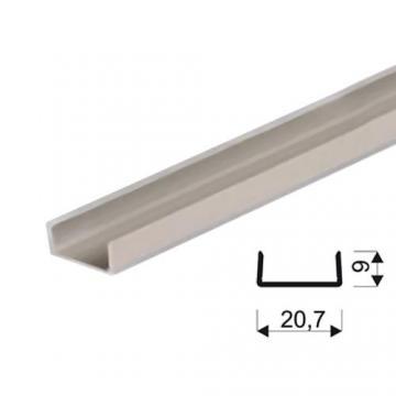"""Sevroll """"U"""" profil 18mm 3m ezüst 89269 Sevroll kiemelt gyártási minőségű szerelvény (1db)"""